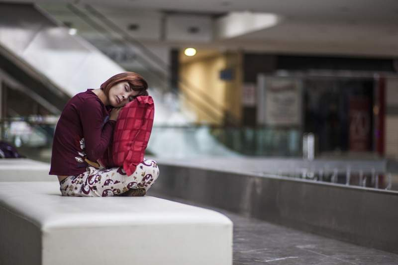 sleep-tired-sitting-waiting-woman
