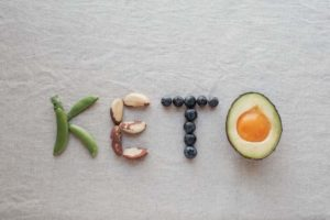 Keto word made from ketogenic food