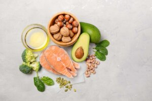 Selection of healthy food for heart