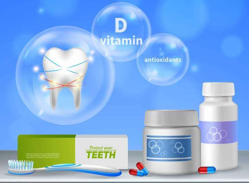 Dental care oral hygiene realistic composition