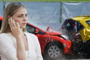 car-crash-phone-call-woman-girl