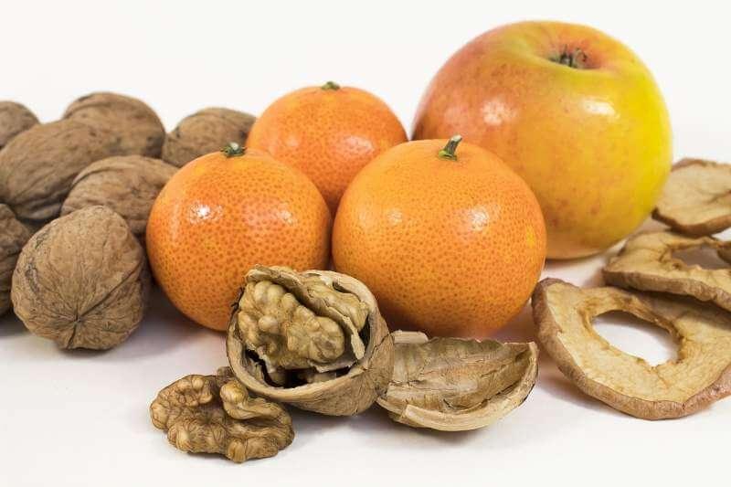walnut-tangerine-apple-snack-fresh